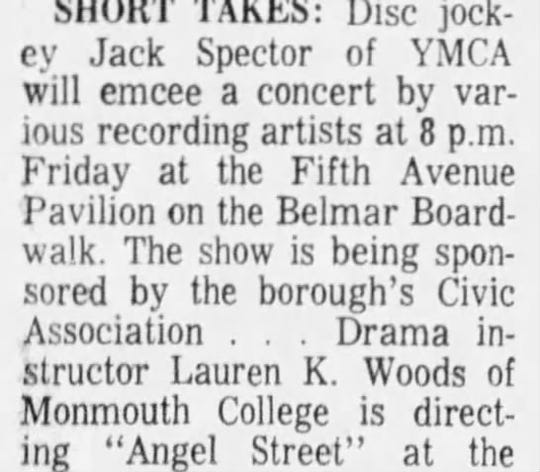 When Van Morrison played 'Brown Eyed Girl' at a Belmar pavilion
