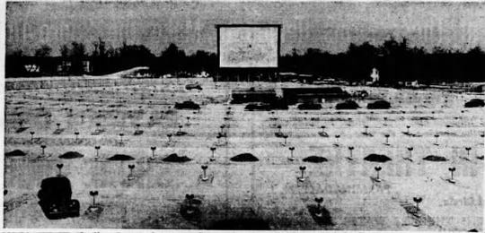 The Shore Drive-in at the Collingswood Circle is shown during its construction in the May 11, 1948, Asbury Park Press