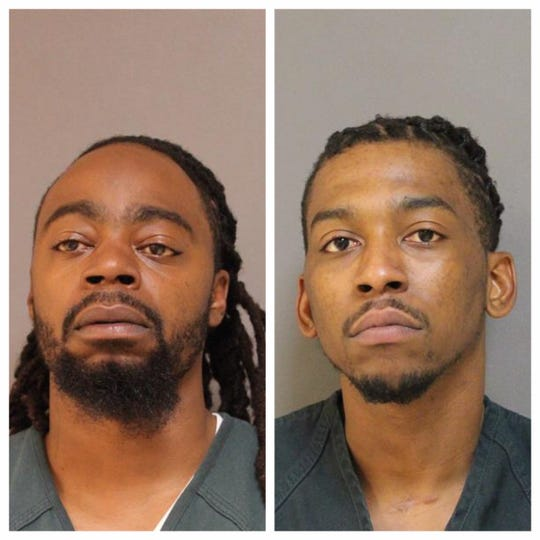 Tony Olden, left, and Shawn Craighead of Lakewood were arrested as part of a multi-agency investigation in Ocean County.