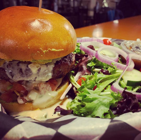 The nacho burger at the Water Street Brewing Co.