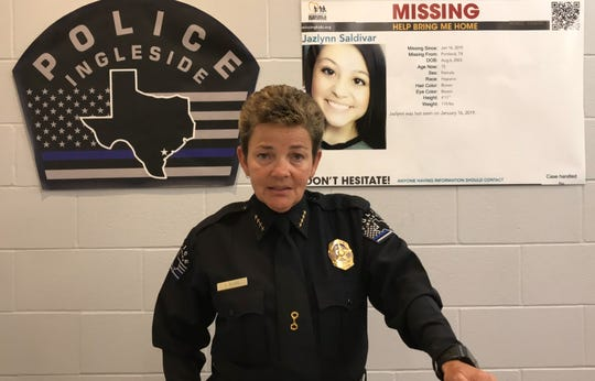 Ingleside Police Chief Tammy Burr speaks about Jazlynn Saldivar, 16. Jazlynn was reported missing in January 2019.