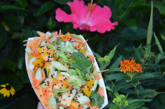 The Fabulous Fig offers a chilled Spring Roll Noodle Bowl from its food truck, which makes weekly stops at the Westmont Farmers Market.