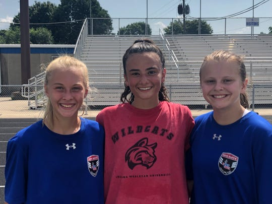 Chillicothe's Ali Mathis, Addie Erslan, and Ally Alderman recently attended the ODP regional camp at Saginaw State University in Michigan.