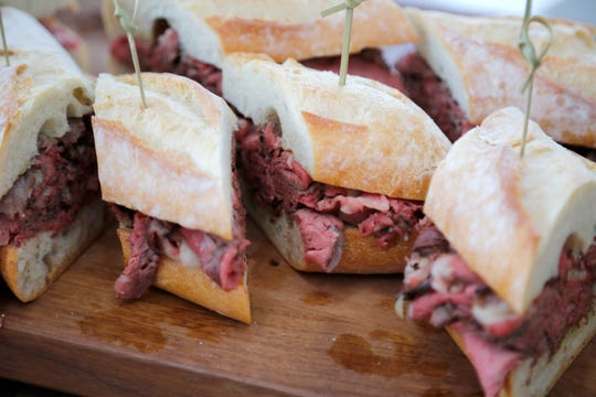 FC Cincinnati played host to an event Wednesday, Aug. 7, 2019, that include smoked rib sandwiches, which expected to be available in the team's future West End stadium.