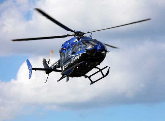 A UnityPoint Life Flight pictured on National Night Out Tuesday, Aug. 6, 2019. Original Life Flight pilots and nurses say the technology has come a long way in 40 years.