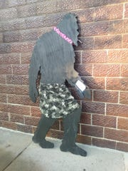 A bigfoot cutout that was returned to Handmade in Howell, a Howell retailer, after being taken for two days.