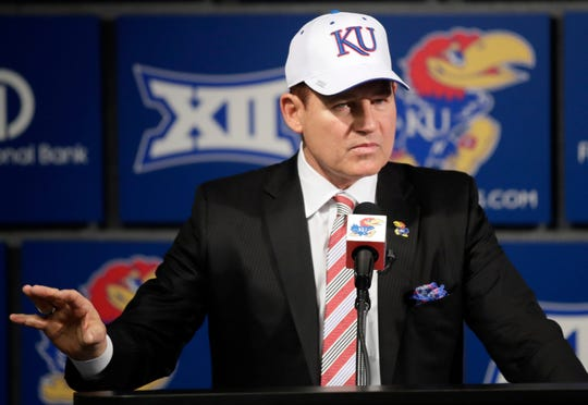 Les Miles is the new head coach at Kansas.