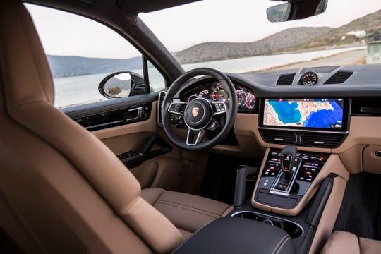 The 2019 Porsche Cayenne S interior.
