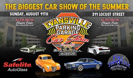 Evansville Parking Garage Car Show is Sunday.