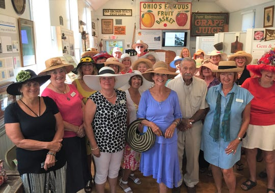 Members of the Catawba Island Garden Club were invited to a tea party at Union Chapel, home of the Catawba Island Historical Society's museum.