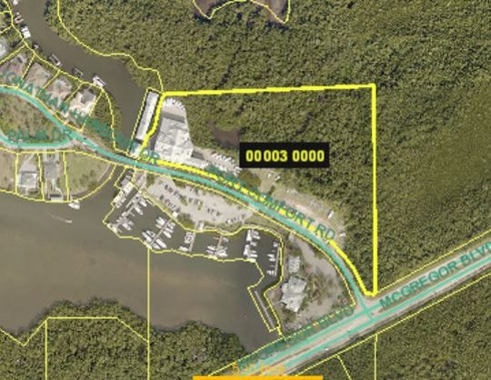 Property making up the Port Sanibel Marina Complex.  A bid to create a bigger boat barn on the site was rejected by county commissioners this week.