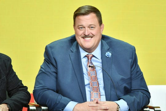 "Billy Gardell of ""Bob Hearts Abishola"" speaks during the CBS segment of the 2019 Summer TCA Press Tour in Beverly Hills, California."