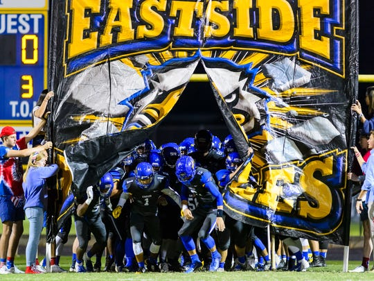 Eastside hosts Greer Friday, October 19, 2018, at Eastside's Carlisle Stadium.