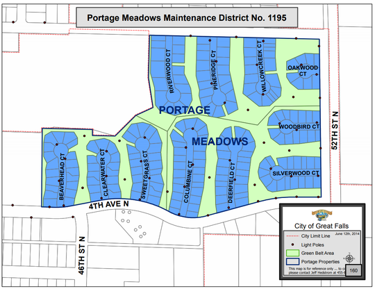 The assessment in Portage Meadows pays for maintaining a green belt park.