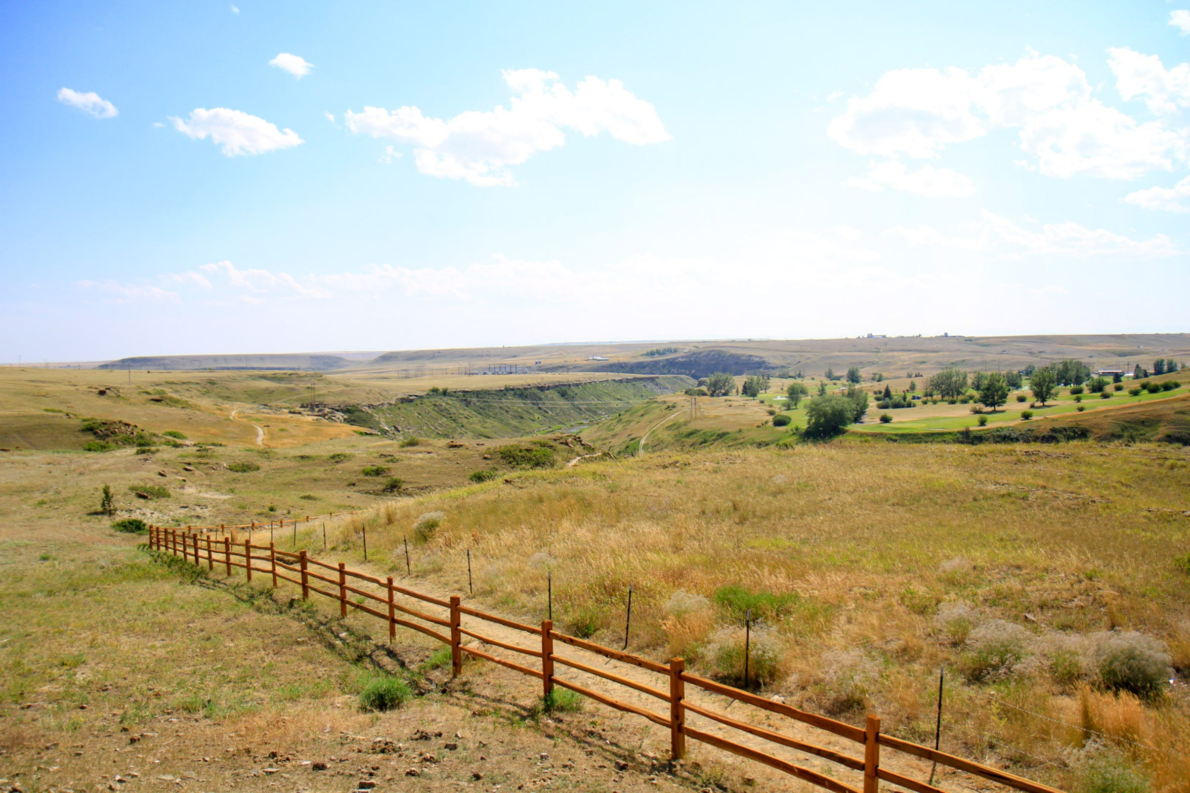 The view of the Coulee Trail located south of Cut Bank along the Cut Bank Creek Coulee