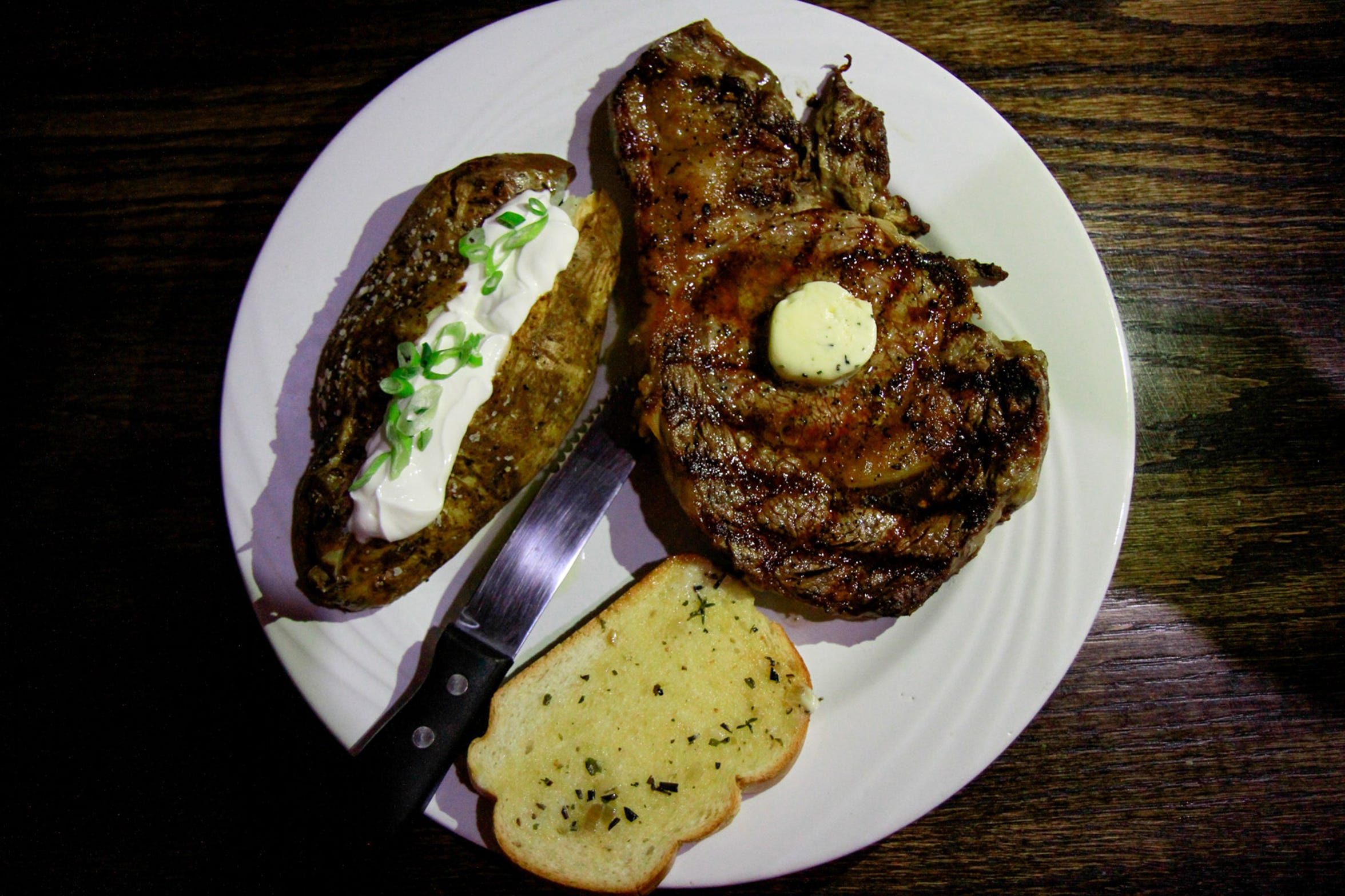 The Rib-eye from the new dinner menu at Water to Wine