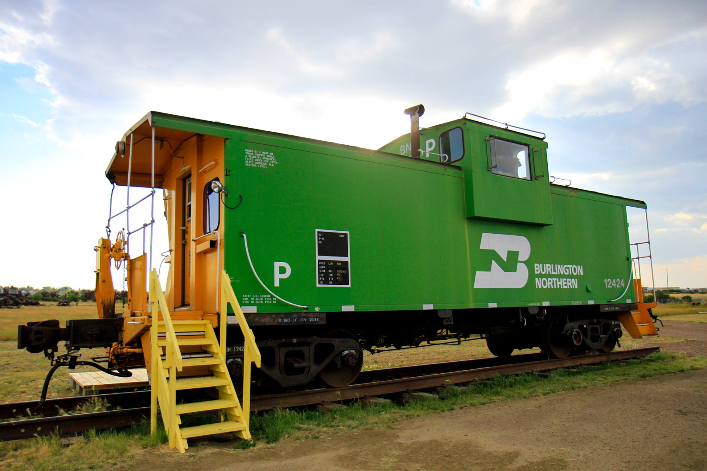 The Burlington Northern Caboose of 1981 at the Glacier County Historical Museum