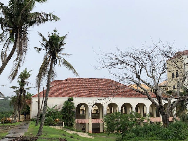 A federal judge visits the former Accion Hotel property in Yona that the Archdiocese of Agana is trying to sell as part of its bankruptcy case and to help compensate more than 200 clergy sex abuse survivors Aug. 7, 2019.