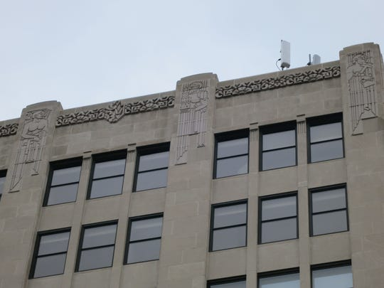 Art Deco detailing on the Architects and Builders Building at 333 N. Pennsylvania St. The building was admitted this year to the National Register of Historic Places in part because of its Art Deco architecture.