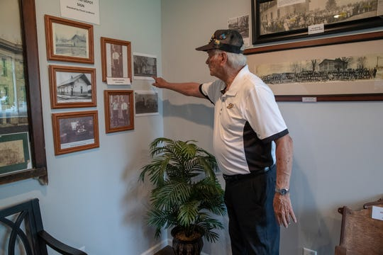 Sam Fields, an alum of Michigantown, gave a tour  of the former gym on June 17.
