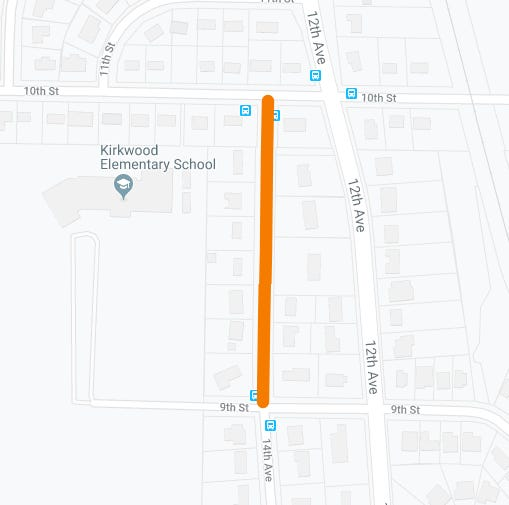 The City of Coralville is closing a section of 14th Avenue to remove and replace the pavement. Starting at 7 a.m. on Monday, August 12, the section between 9th and 10th streets will be closed to traffic.