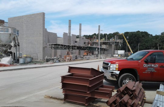 """Construction crews are finishing up projects across Iowa City Community School District this August, including this """"Phase II"""" at Liberty High."""