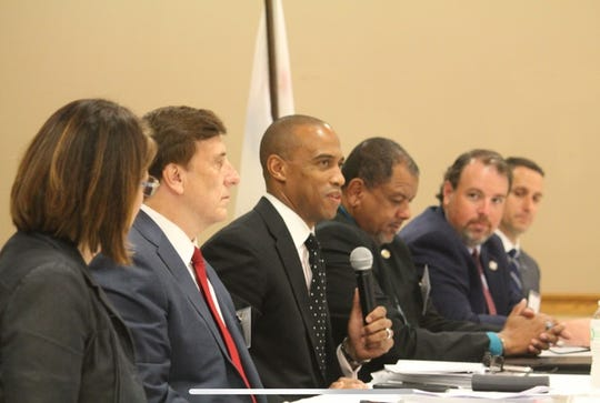 Scott Turner, executive director of the White House Council on Opportunity and Revitalization, speaks during an Acadiana visit about the area's opportunity zones program and its potential for bringing development to low-income areas.