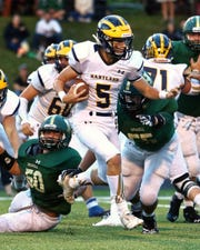 Junior Holden D'Arcy returns for his second season as Hartland's starting quarterback.