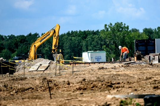 The construction site of a Love's Travel Stop photographed on Tuesday, Aug. 7, 2019, in Waterton Township. The new truck stop at the northwest corner of the intersection of Francis Road and W. Grand River Highway is near a Pilot Flying J Travel Center.