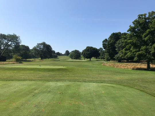 No. 17 at Westbrook is a wide open Par 3, the only one on the back, with one of the toughest greens on the course.