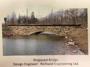 A rendering of the new bridge at North Lake Park.