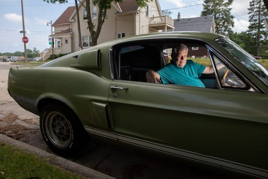 Mike Romans, owner of Romans' Pub, takes his 1967 Shelby GT350 out in the summer.