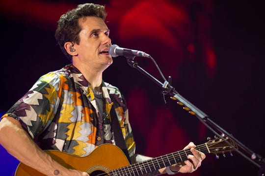 John Mayer performs at Fiserv Forum on Tuesday.