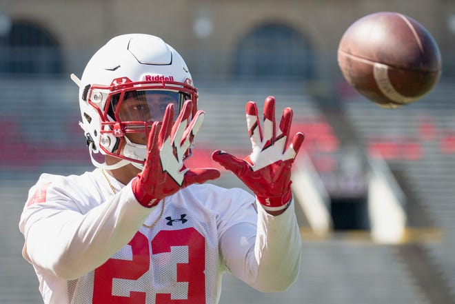 Junior running back Jonathan Taylor, who has just 16 receptions in his first two seasons at Wisconsin, has worked diligently during the offseason, and in camp so far, to improve his receiving skills.