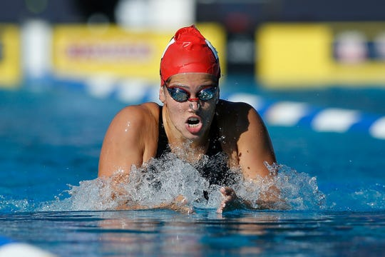 Beata Nelson swims women's 200-meter individual medley during the national championships on Aug. 4.