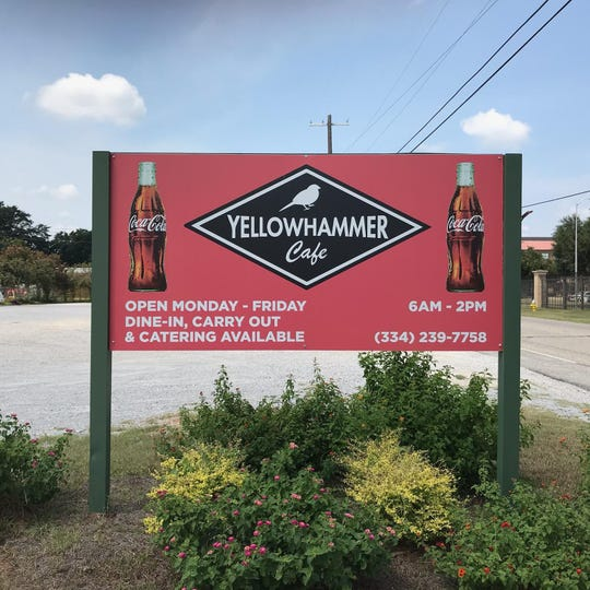 Yellowhammer's sign at their old location.