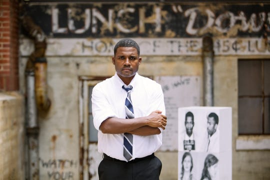 """Actor and playwright Mike Wiley brings his one-man production """"Breach of Peace"""" to The Sanctuary in Montgomery on Friday, Aug. 9, 2019."""