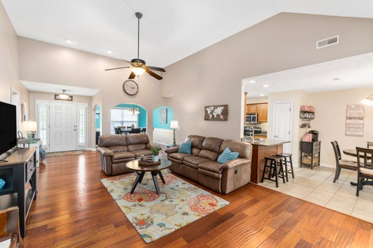Rebecca Winkler looks forward to gathering the family for Christmas and Thanksgiving. The open floor plan is perfect for entertaining.