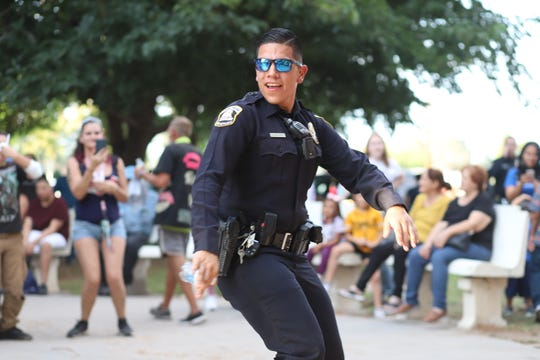 Deming Police Officer Sergio Quezada busted out some moves throughout the duration of the National Night Out event.