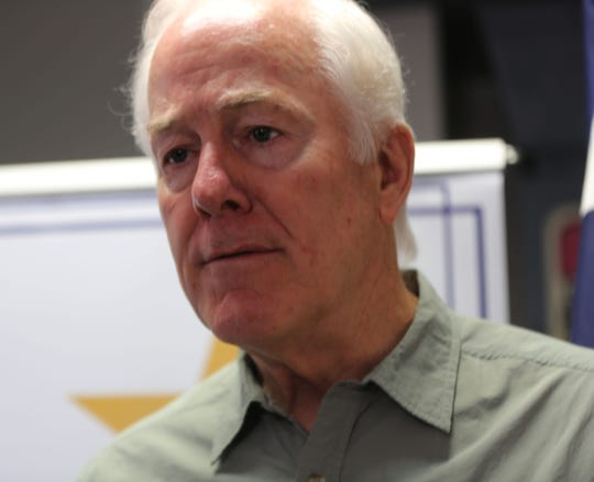 United States Republican Senator John Cornyn, in El Paso, Wednesday Aug. 7, 2019.