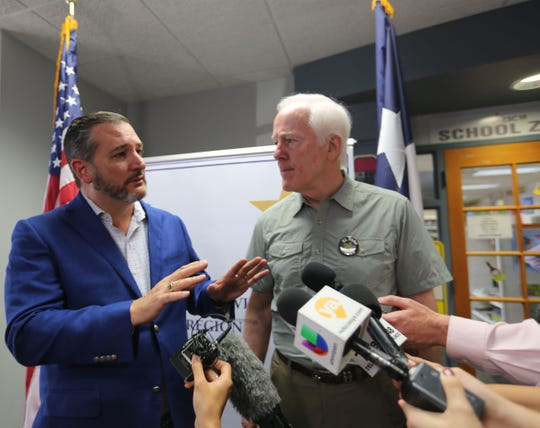 U.S. Sen. Ted Cruz said that El Paso is above the hate on Wednesday Aug. 7, 2019.
