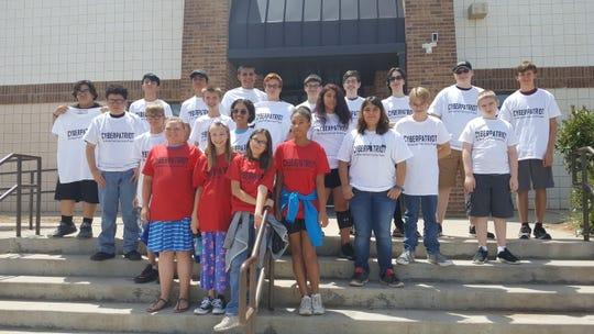 Members of the 2019 CyberPatriot Camp at Alamogordo High School