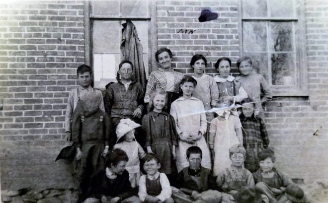 Pupils from the La Plata School pose for a photograph in this undated image.