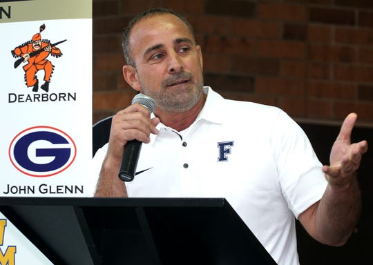 Dearborn Fordson High head football coach Fouad Zaban.