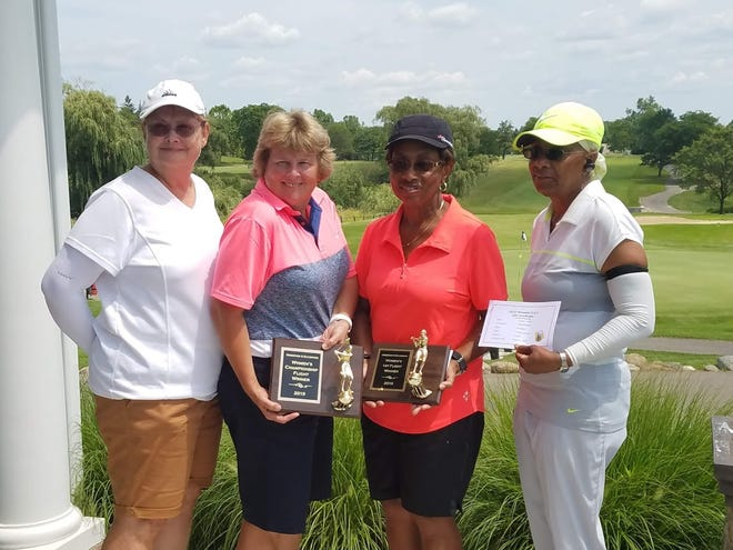 Pictured are Deb Horning, Lori Rogers, Cynthia Pinkard, Raida Abdullah (from left to right) at the O&E Women's Open in 2019.