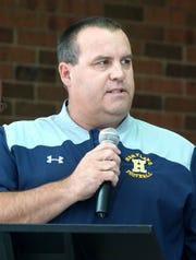 Hartland High football coach Brian Savage.