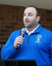 Salem High football coach Justin Reed.