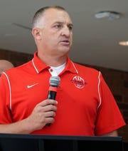 Livonia Franklin High head football coach Chris Kelbert.