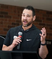 Novi High football head coach Jeff Burnside.