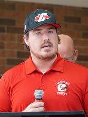 Canton Chief defensive coordinator Matthew Sexton.